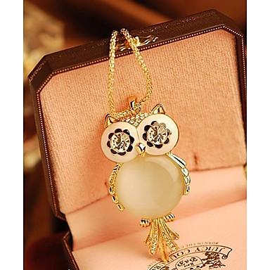 Kadın's Uçlu Kolyeler - Baykuş, Kar Tanesi Moda Ekran Rengi Kolyeler Mücevher Uyumluluk Özel Anlar, Doğumgünü, Hediye