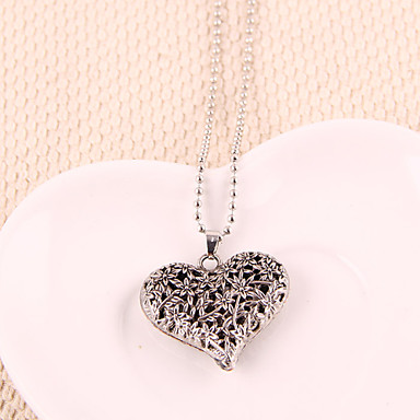 Pentru femei Coliere cu Pandativ - Inimă, Iubire European Auriu, Argintiu Coliere Bijuterii Pentru Petrecere