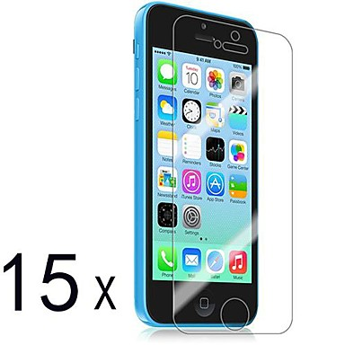 [15-Pack] Premium High Definition Clear Screen Protectors for iPhone 5C