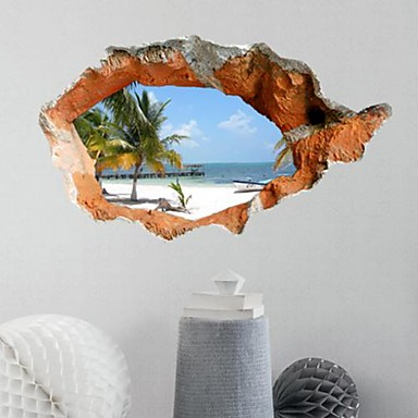 Dekoratif Duvar Çıkartmaları - 3D Duvar Çıkartması 3D Oturma Odası / Yatakodası / Yemek Odası / Çalışma Odası / Ofis / Erkekler odası / Yıkanabilir / Yıkanabilir