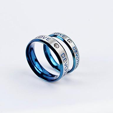 Bărbați Pentru femei Inele Cuplu Oțel titan Rotund Bijuterii Zilnic Casual