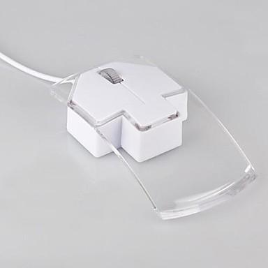 yaratıcı şekil kablolu fare 1200dpi 7 renkli led ışık şeffaf plastik