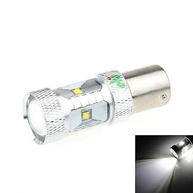 1156 30W 6-LED 6500K 2500LM lumină albă LED-uri pentru masina de mers înapoi Light (DC 9-24V)