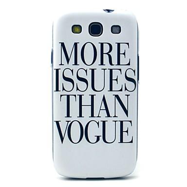 mai multe probleme decât model vogă acoperire greu de caz pentru i9300 Samsung Galaxy S3