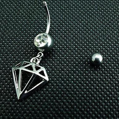 Kristal Göbek Halkası / Göbek Piercing - Kristal Kadın's Vücut Mücevheri Uyumluluk Günlük