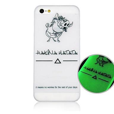 Pentru Carcasă iPhone 5 Carcase Huse Stralucire in intuneric Model Carcasă Spate Maska Animal Greu PC pentru iPhone SE/5s iPhone 5