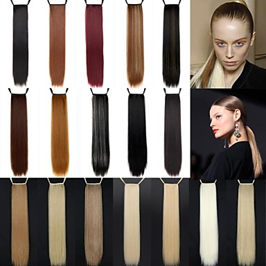 24 inch Long Hair Extension Straight Classic Daily High Quality Ponytails