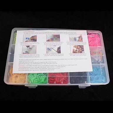 baoguang®loom bantları çocuklar için küçük boyutlu, çok renkli lastik bant c (3000pcs, rastgele renk)