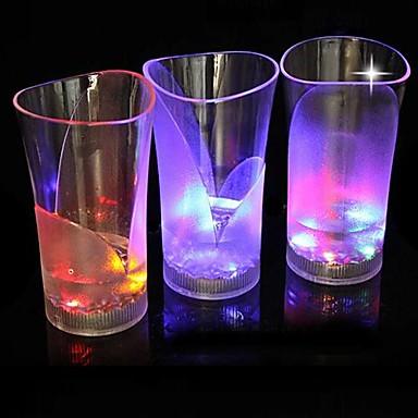 LED-uri de lumină de noapte Pahare LED Rezistent la apă Baterie PVC 1 Lumină 14.5*8.3*8.3cm