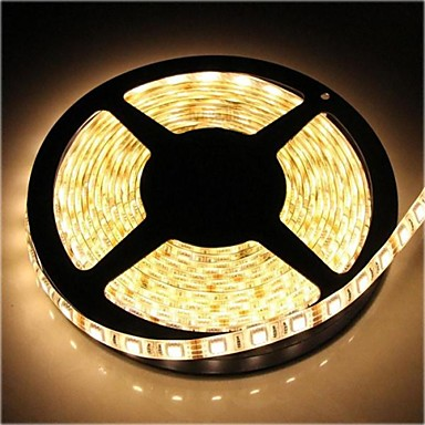 zdm ™ su geçirmez 5m smd 4800lm sıcak beyaz ışık led 72W 300 * 5050 şerit lambası (DC12V)