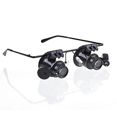 ieftine Microscop & Lupă-Ochelari de tip 20X Lupa cu lumină albă LED (4xCR1620)