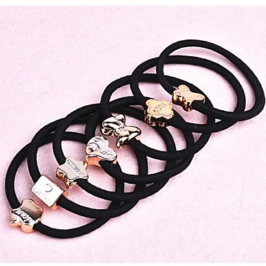 (3PC aleatorii) negru benzi elastice ridicate mai simple și practice, elastice de par