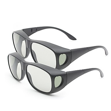 m&polarize ışık IMAX 3D filmi için 3d gözlük (2 adet) kalınlaştırmak k