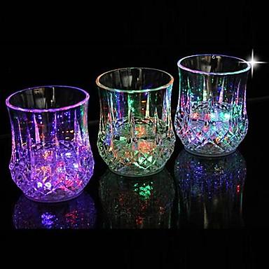 1pc LED Bardaklar / Gece aydınlatması LED Batarya Su Geçirmez