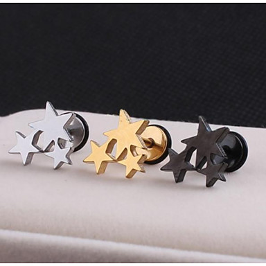 Men's Stud Earrings - Stainless Steel Star For Wedding / Party / Daily