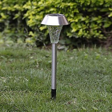 1-LED Whte Güneş Paslanmaz Çelik Çim Işık Yolu Bahçe Lambası