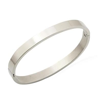 Жен. Нержавеющая сталь Браслет разомкнутое кольцо - Серебряный Браслеты Назначение Новогодние подарки Свадьба Для вечеринок