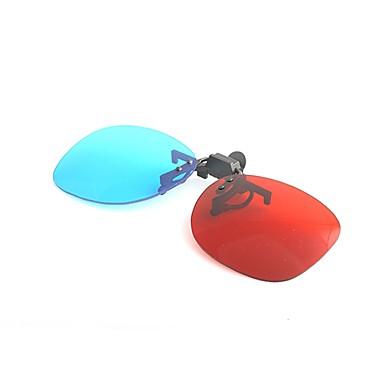 m&bilgisayar tv için 3d gözlük kırmızı mavi miyopi sıkma parça takım elbise k