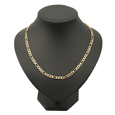 ieftine Colier la Modă-Bărbați Lănțișoare Figaro lanț Box lanț Mariner Chain Clasic Hip-Hop Dubai Articole de ceramică Placat Auriu Aur Alb Auriu Coliere Bijuterii Pentru Cadouri de Crăciun Petrecere Zilnic
