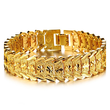 povoljno Narukvice-Žene Široke narukvice Narukvica Pozlaćeni dame Stilski Dubai Narukvice Jewelry Za Vjenčanje Party Zabave Svakodnevica Dnevno Kauzalni