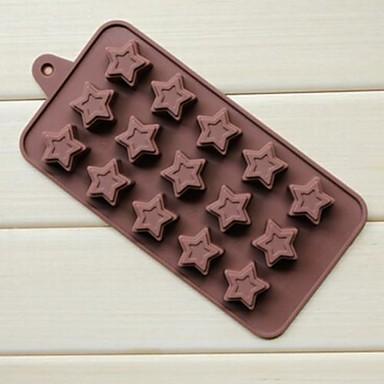 15 delikli çörek pentagram şeklinde pasta buz jöle çikolata kalıpları