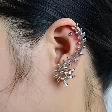 Femme Forme de Feuille Strass Imitation Diamant Poignets oreille - Luxe Forme de Feuille Pour Mariage Soirée Quotidien Décontracté Sports