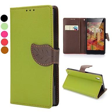 sony xperia l39h z1 (çeşitli renklerde) için manyetik toka tasarımı cüzdan tarzı flip standı tpu ve pu deri kılıf