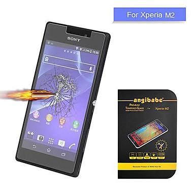 sony xperia m2 angibabe 0.3mm patlamaya dayanıklı prim temperli cam ekran koruyucusu