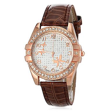 Pentru femei Ceas de Mână Ceas Casual Ceas La Modă Japoneză Quartz imitație de diamant PU Bandă Floare Negru Alb Albastru Roșu Maro