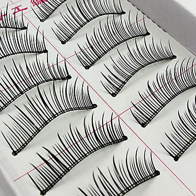 Kirpikleri Kirpik Kirpik Doğal Uzunlukta Hacimlendirilmiş Doğal Fiber