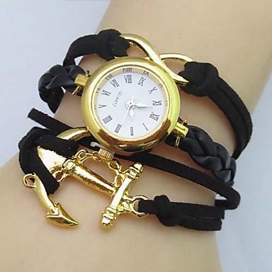 Women's Quartz Bracelet Watch Casual Watch Leather Band Bohemian / Fashion Black / White / Blue / Red / Brown / Pink / Rose
