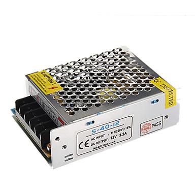 Zdm 1 adet çıkış 40 w 12 v dc 3.2 bir alüminyum kabuk ac / dc anahtarlama güç kaynağı dönüştürücü (ac110-220v 50hz için dc12v)