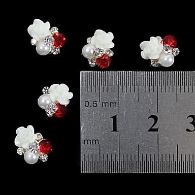 Sevimli tırnak sanatı Manikür pedikür Metal Mevye / Çiçek / Soyut Günlük / Karikatür / Nail Jewelry / Punk