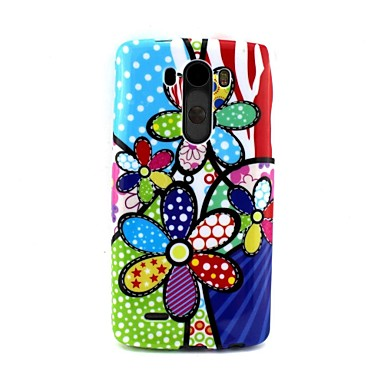 Graffiti Three Flowers  TPU Soft Case Cover  for LG G3