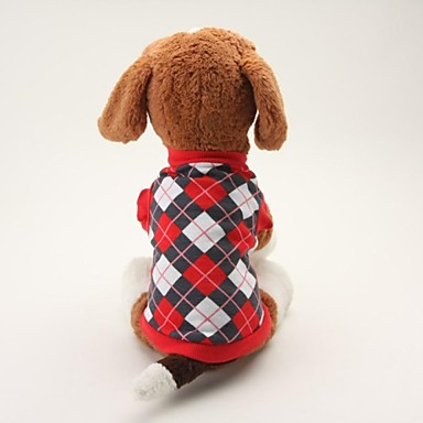 Dog Shirt / T-Shirt Dog Clothes Plaid/Check Black Blue Cotton Costume For Pets Men's Women's Classic Casual/Daily