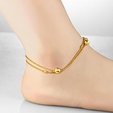 Pentru femei Brățară Gleznă / Brățări Placat Auriu 18K Aur Design Unic Modă Brățară Gleznă Corp lanț / burtă lanț Altele Bijuterii Pentru