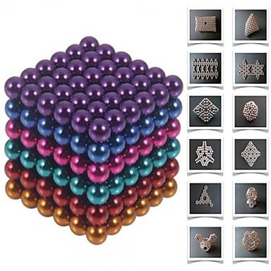 Магнитные игрушки Конструкторы Неодимовый магнит Магнитные шарики 216pcs 5mm Магнит Магнитный Подарок