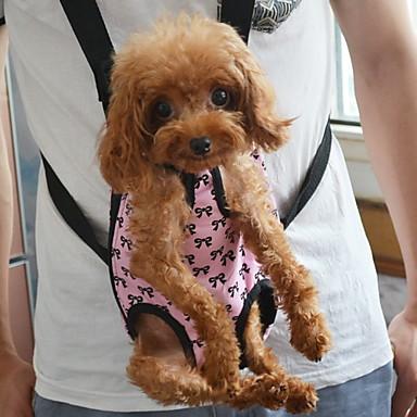 Kedi Köpek Taşıyıcı & Seyahat Sırt Çantaları ön Sırt Çantası Evcil Hayvanlar Kılıflar Taşınabilir Kurdeleli Pembe Evcil hayvanlar için