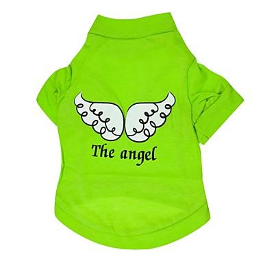 Köpek Tişört Köpek Giyimi Angel & Devil Mor Gül Yeşil Mavi Pamuk Kostüm Evcil hayvanlar için Erkek Kadın's Günlük/Sade
