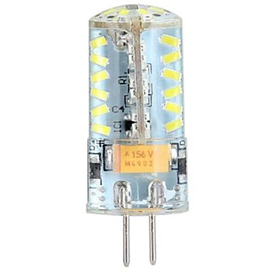 1 adet 4 w silika jel g4 led ampul 57 smd 3014 ac / dc 12 v üst aydınlatma ev avize için sıcak / soğuk beyaz