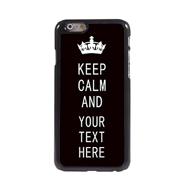 caz personalizate Păstrați black caz calm metalice de proiectare pentru iPhone 6 (4.7