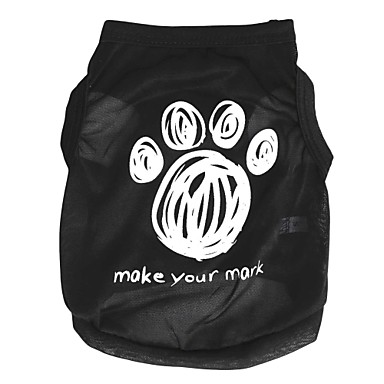 Kedi Köpek Tişört Köpek Giyimi Karton Siyah Terylene Kostüm Evcil hayvanlar için
