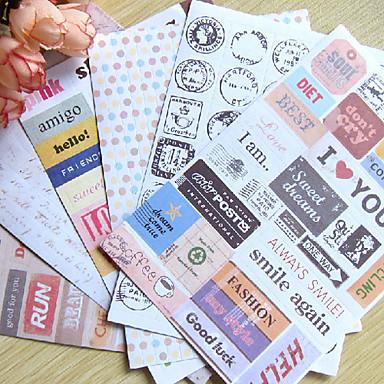 postmark word scrapbooking украшают наклейки (6 шт.) украшения& триммеры