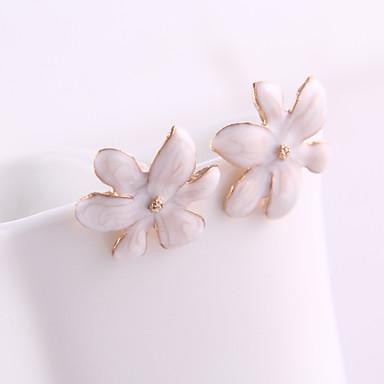 Vidali Küpeler Kristal Emaye alaşım Flower Shape Mücevher Için Günlük