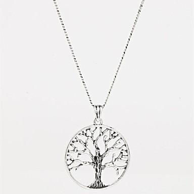 Kadın's Uçlu Kolyeler - Arkadaşlar, Hayat Ağacı Moda Gümüş Kolyeler Mücevher Uyumluluk Parti, Doğumgünü, Teşekkür ederim