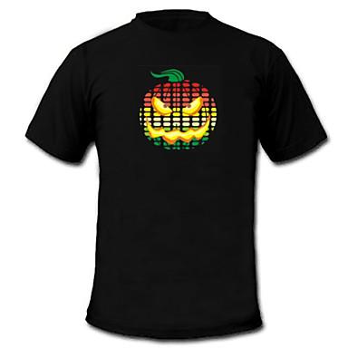 geluid en muziek geactiveerd spectrum vu meter el Visualizer geleid t-shirt (2 * aaa)
