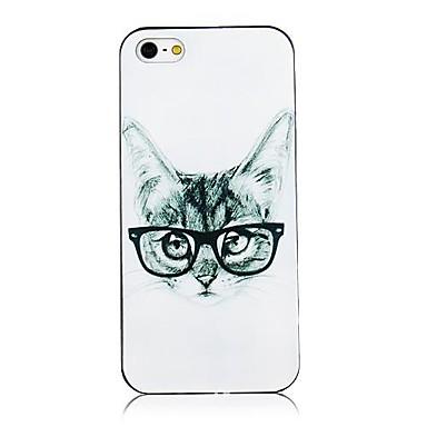 Pentru Carcasă iPhone 5 Carcase Huse Model Carcasă Spate Maska Pisica Greu PC pentru iPhone SE/5s iPhone 5