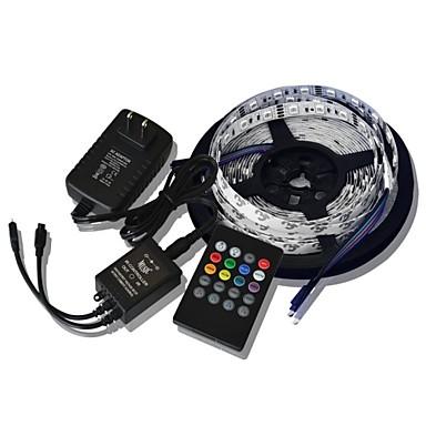 5m 300x5050 SMD Musik Lichtleisten RGB flexible LED-Lichtleisten + 20key Musik Fernbedienung + 2a Leistung (AC110-240V)