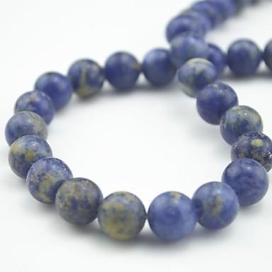 DIY Schmuck Stück Perlen-Kits Halbedelsteine Blau Korn 1 cm DIY Modische Halsketten Armbänder