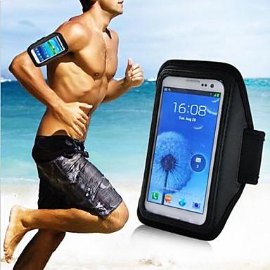 verticale universele sport joggen armband etui voor de Samsung Galaxy telefoon (zwart)